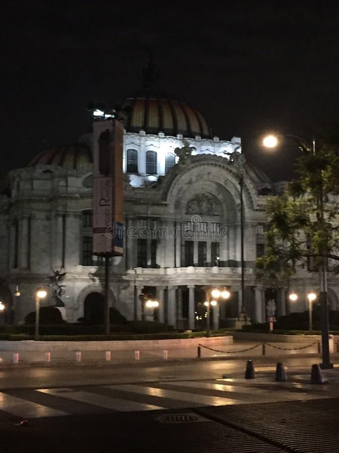 Bellas Artes. Palacio de Bellas artes in Mexico stock photo
