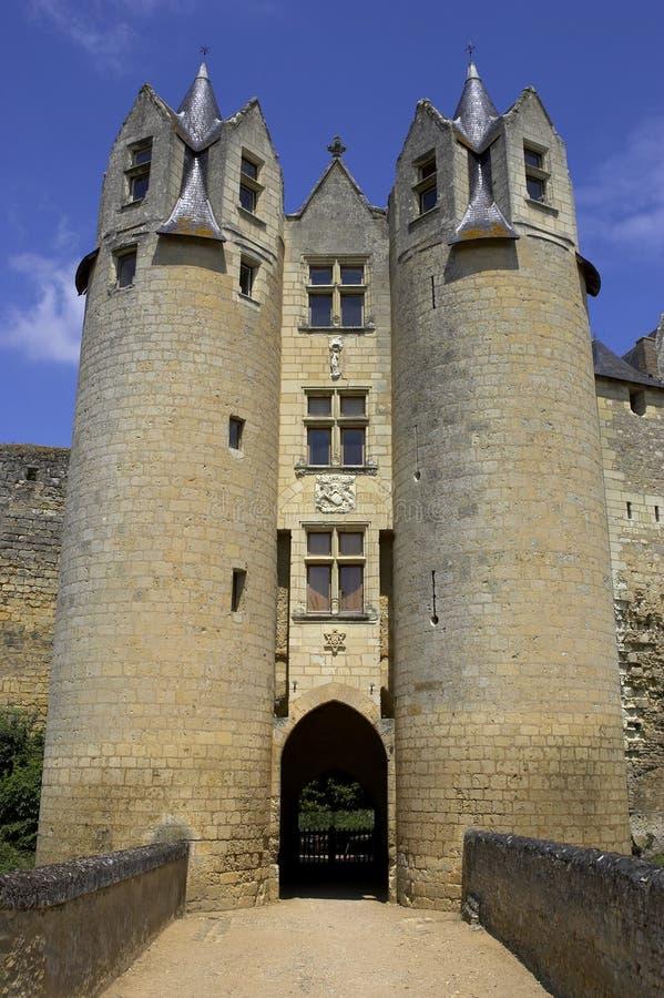 bellay väggar för dal för slottfrance loire montreuil fotografering för bildbyråer
