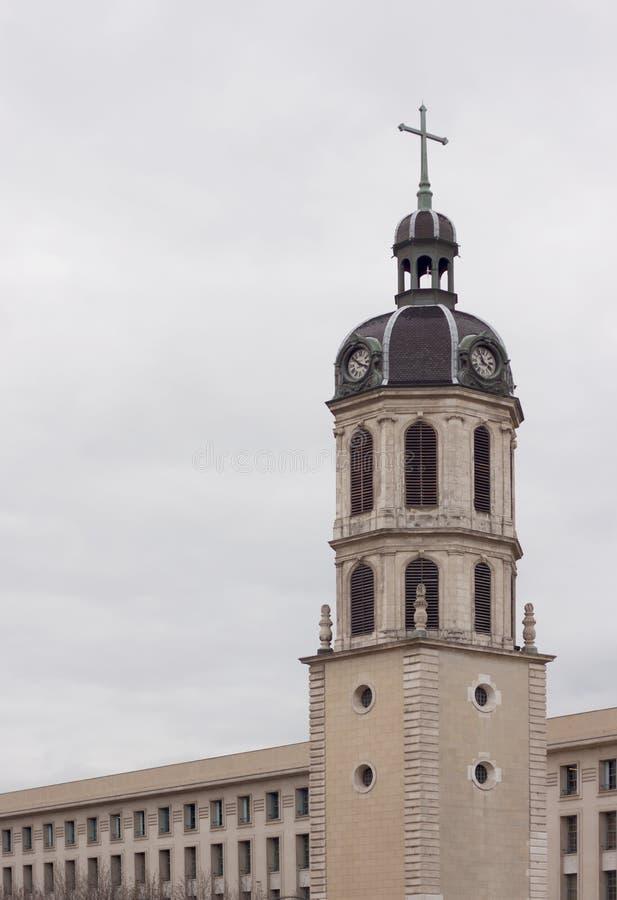 Download Bellcour Square, Clocher De La Charite I Lyon Fotografering för Bildbyråer - Bild av stads, stad: 27283715