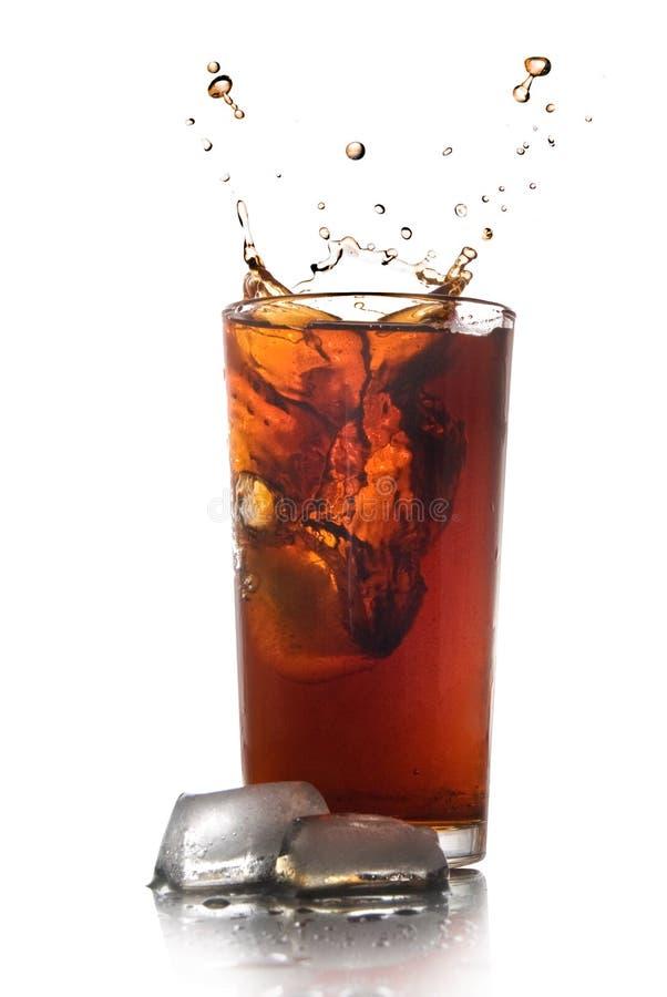 Belle éclaboussure de kola en glace photo libre de droits