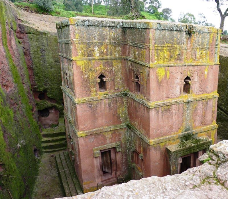 Belle église éthiopienne célèbre image stock