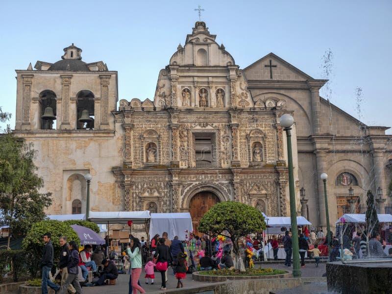 Belle église de Quetzaltenango, Guatemala images stock