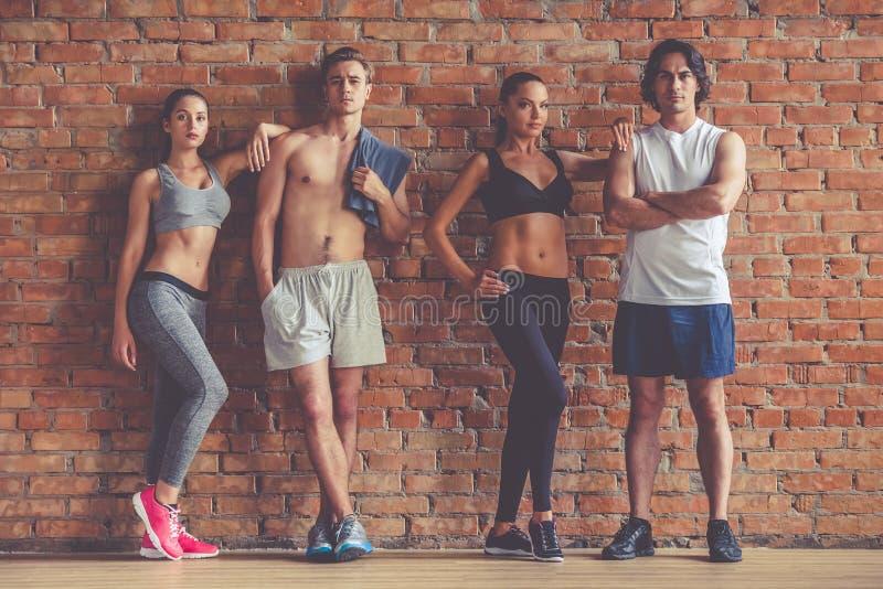 Belle équipe de sports photographie stock
