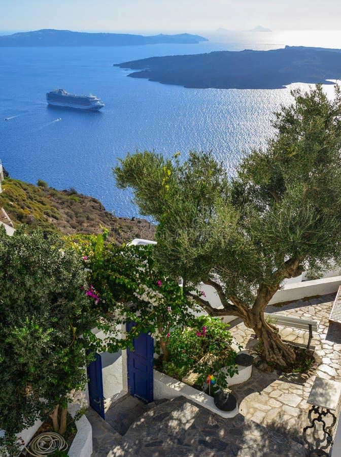 Belle île de Santorini, Grèce photographie stock libre de droits