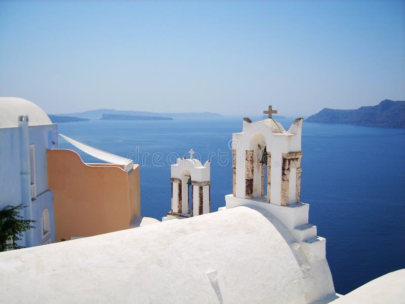 Belle île Grèce de Santorini images libres de droits