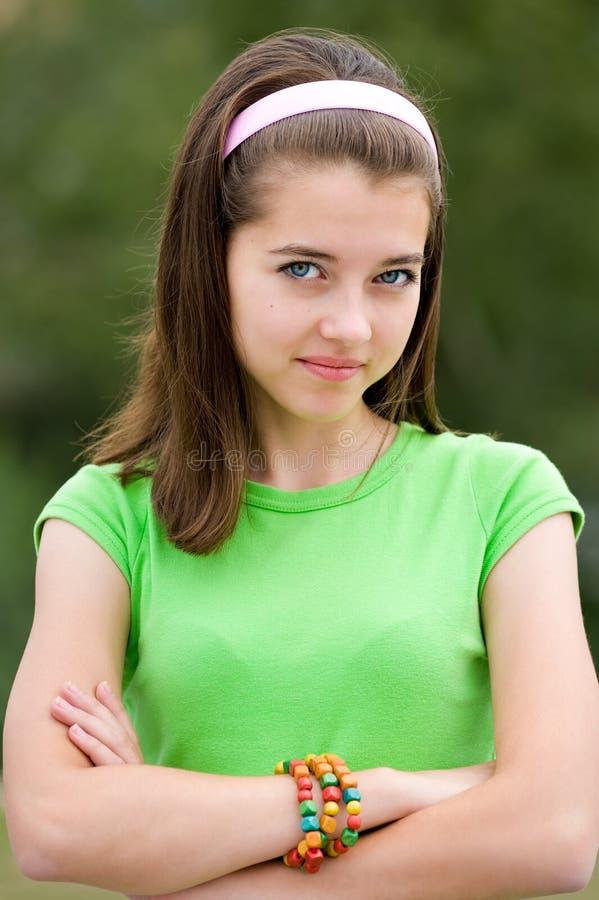 Belle adolescente photographie stock libre de droits