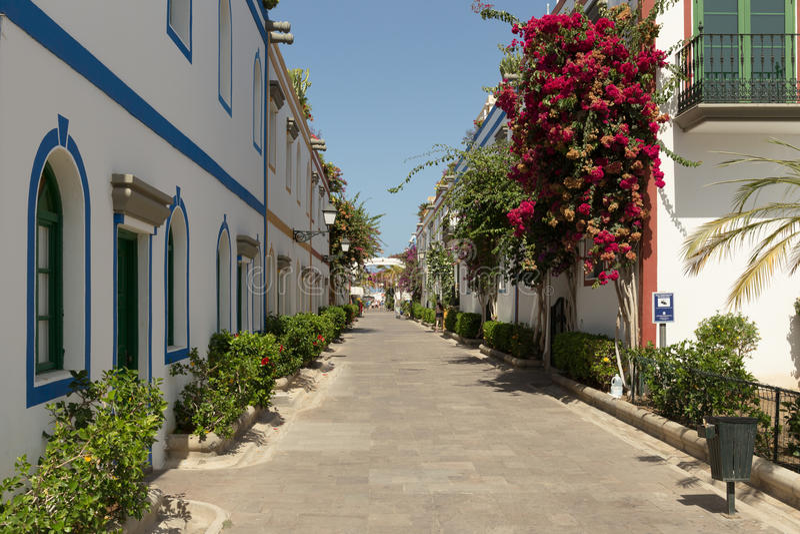 Belle allée de Garn Canaria photo libre de droits