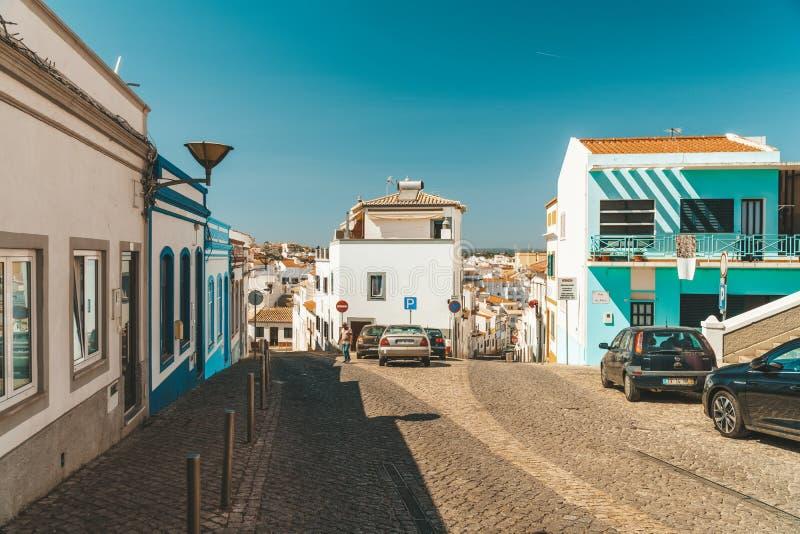 Belle architecture dans la ville du centre de Lagos au Portugal photos libres de droits