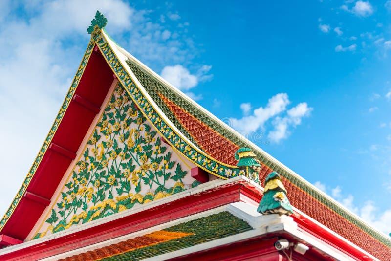 Belle architecture de la Thaïlande de détails, toit images stock