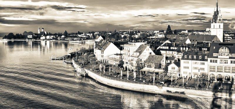 Belle architecture médiévale à Friedrichshafen - en Allemagne images libres de droits