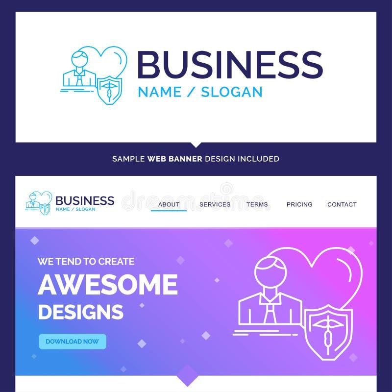 Belle assurance de marque de concept d'affaires, famille, maison, p illustration stock
