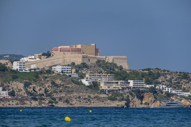 Belle baie d'Ibiza images stock
