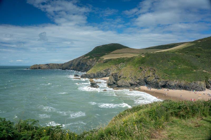 Belle baie de cardigan de rivages du sud du pays de Galles image stock