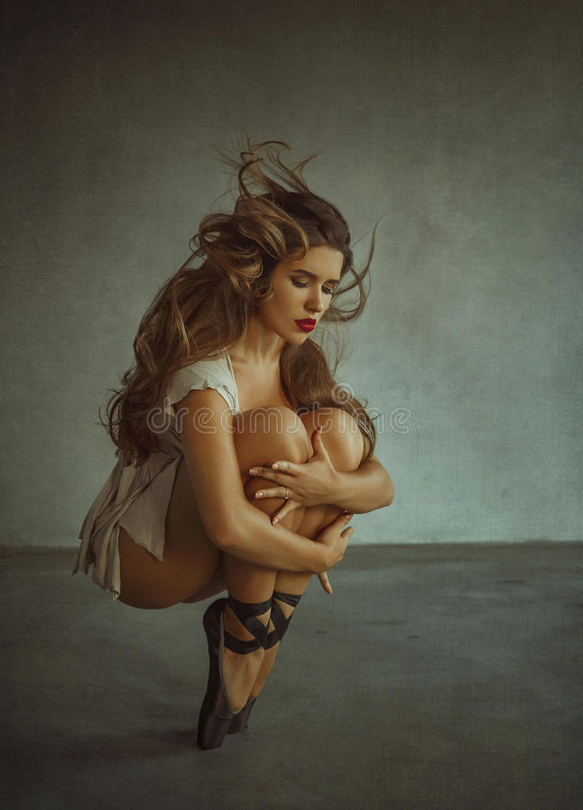 Belle ballerine de fille photos stock
