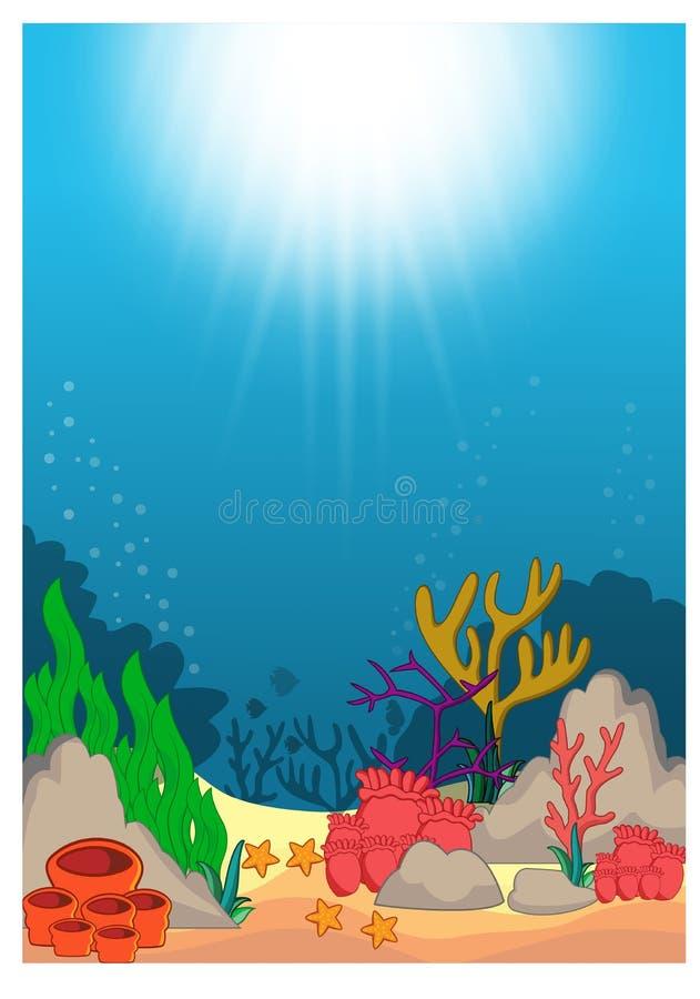 Belle bande dessinée sous-marine du monde illustration libre de droits