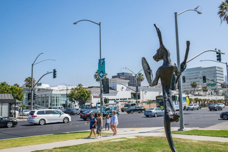 Belle Beverly Hills, la Californie un jour d'été images stock
