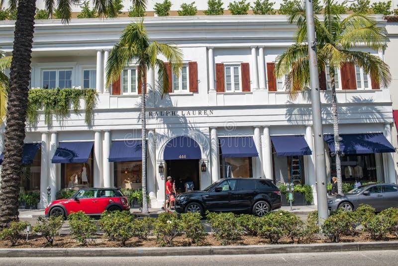 Belle Beverly Hills, la Californie un jour d'été photos libres de droits