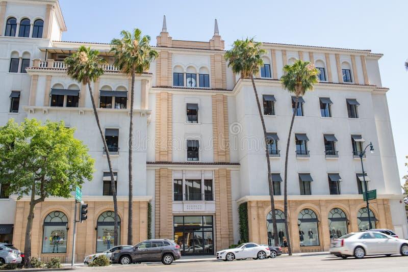 Belle Beverly Hills, la Californie un jour d'été image stock