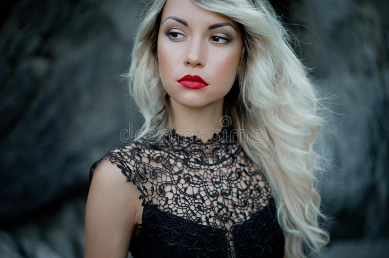 Belle blonde photographie stock