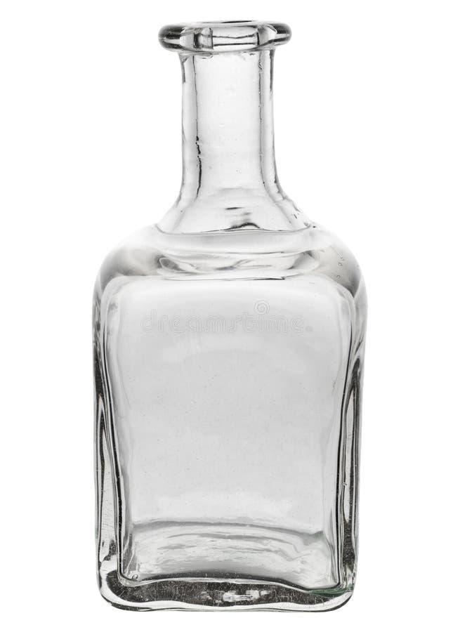Belle bouteille en verre avec les bords incurvés photo libre de droits