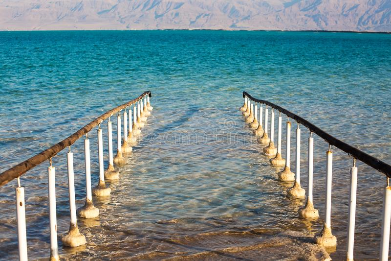 Belle côte de la mer morte photo stock