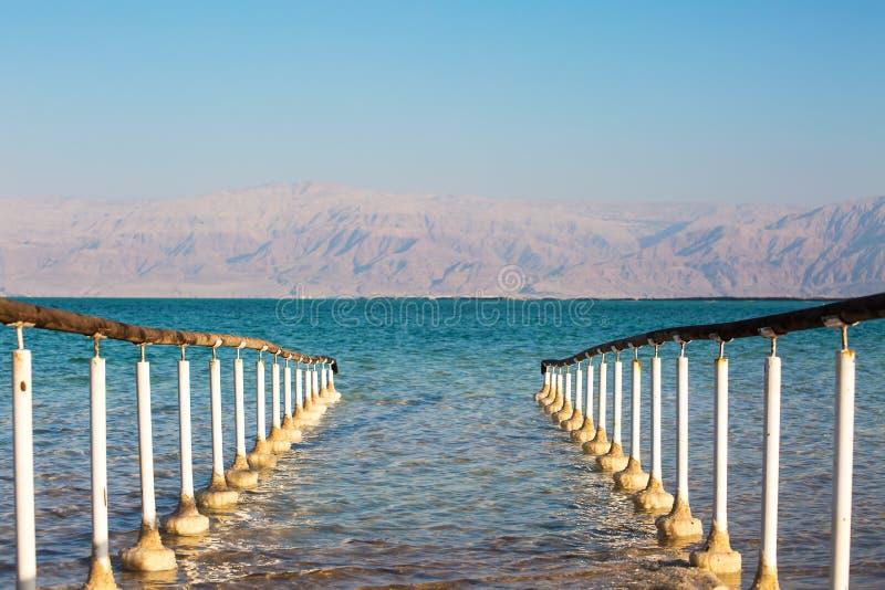 Belle côte de la mer morte photo libre de droits