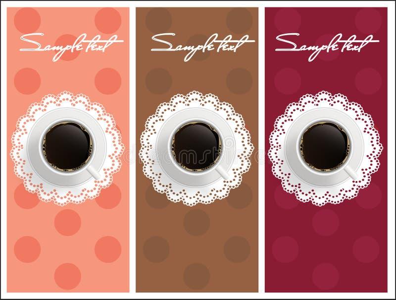 Belle carte avec du café doux illustration stock