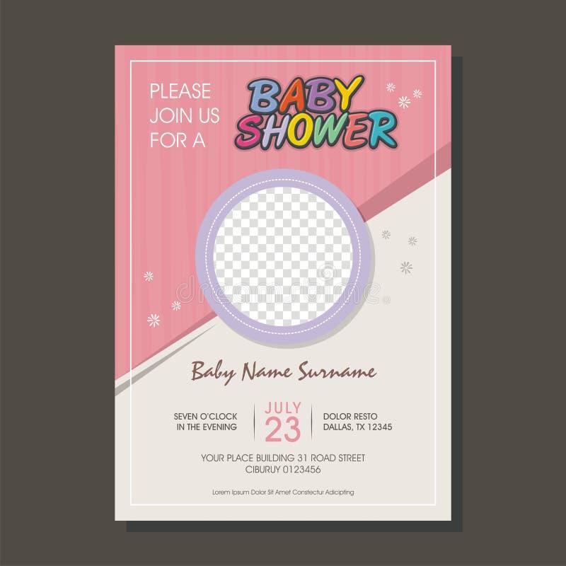 Belle carte d'invitation de fête de naissance avec le style de bande dessinée illustration de vecteur