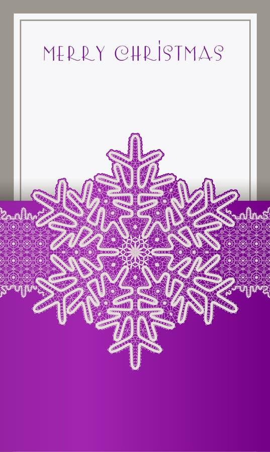 Belle carte de Noël illustration libre de droits