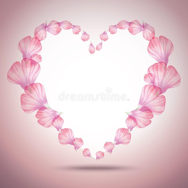 Belle carte de voeux florale pour Valentine Day illustration stock