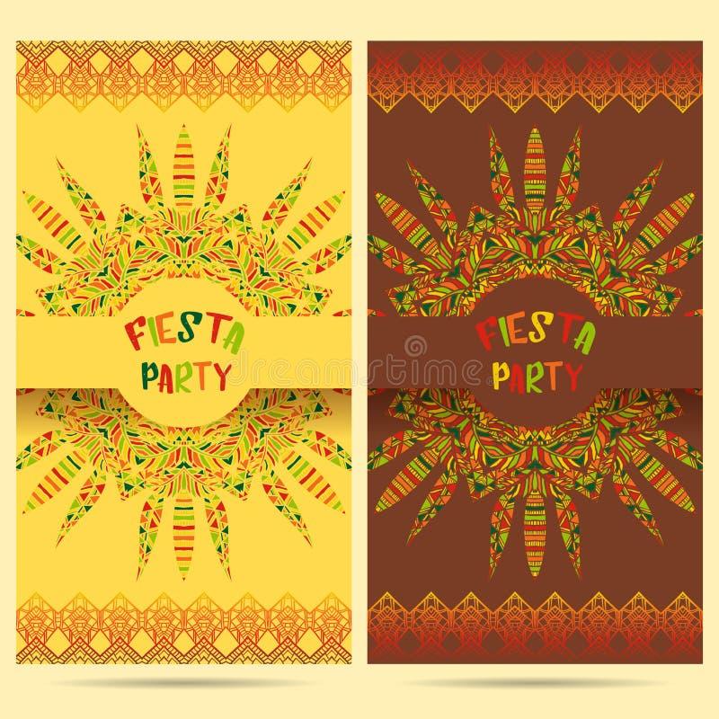 Belle carte de voeux, invitation pour le festival de fiesta Concept de construction pour des vacances de Cinco de Mayo de Mexicai illustration de vecteur