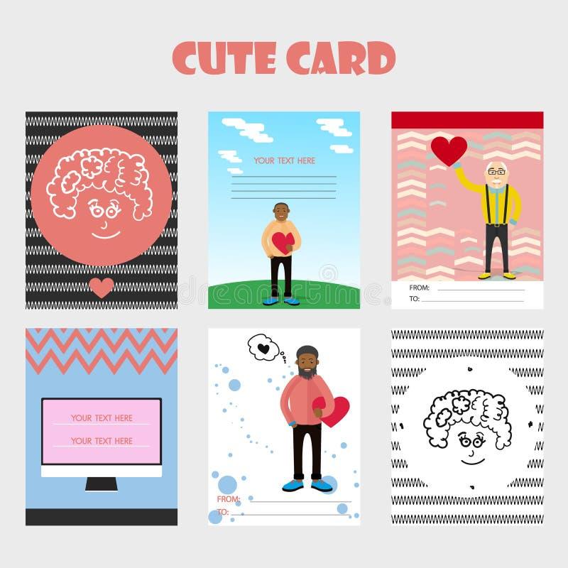 Belle carte pour la Saint-Valentin images stock