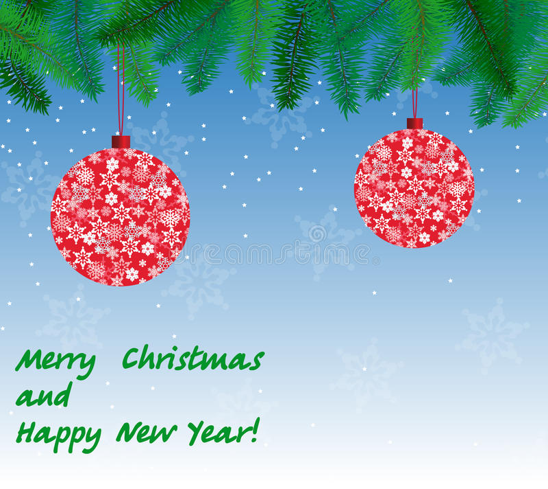 Belle carte pour Noël images stock