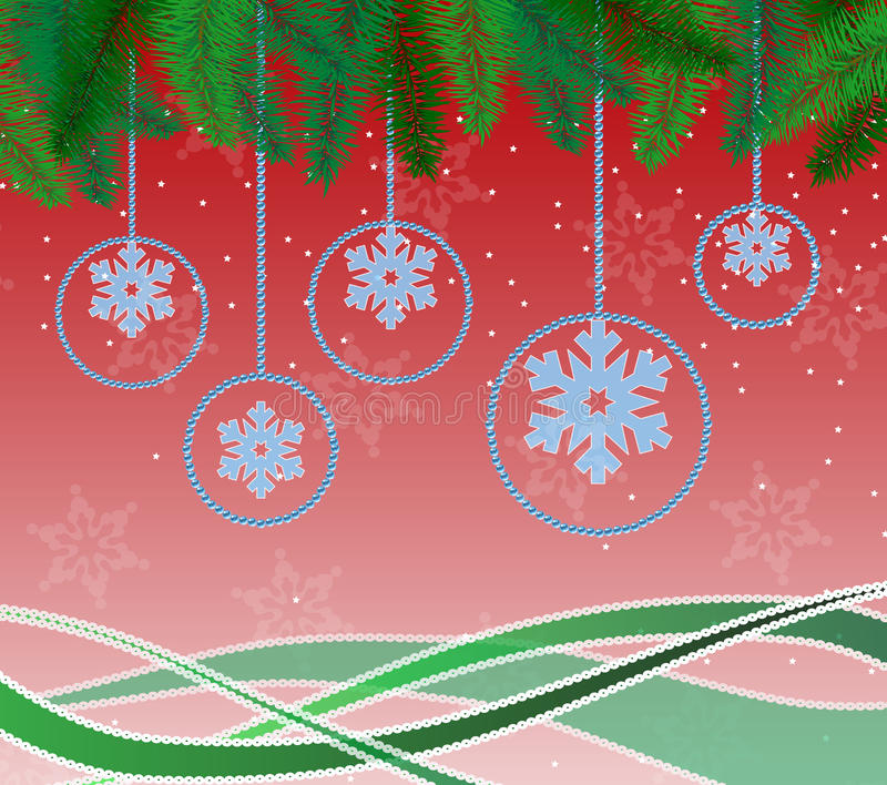 Belle carte pour Noël photographie stock libre de droits