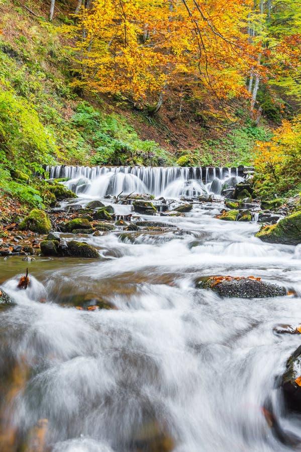 belle cascade à écriture ligne par ligne d'automne photos stock