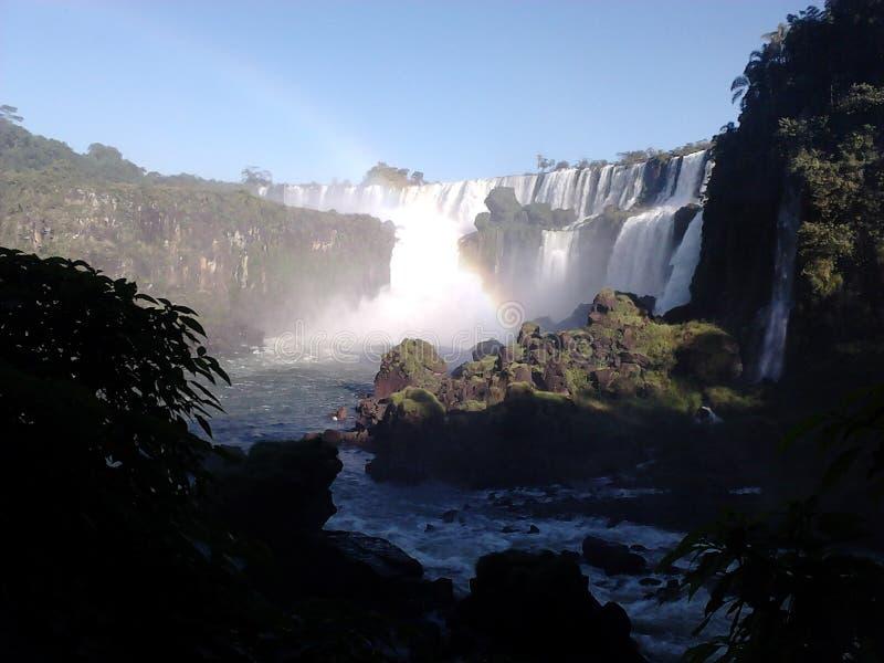 Belle cascade chez Iguazu photographie stock libre de droits