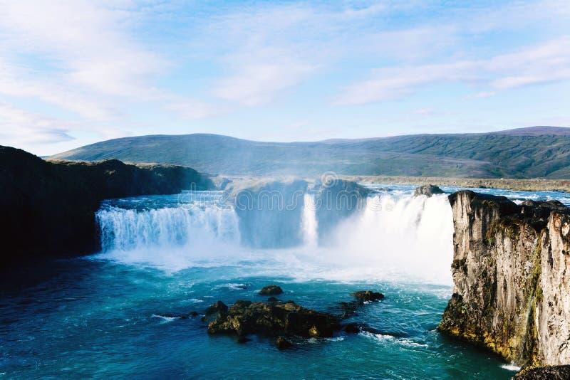 Belle cascade de Godafoss en Islande images libres de droits