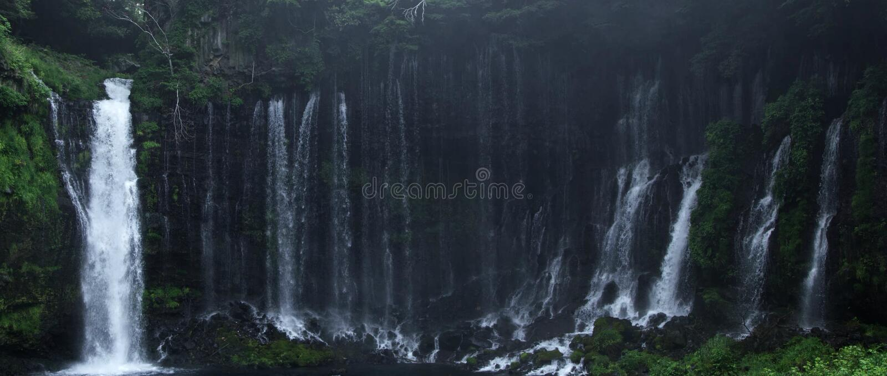 Belle cascade en montagne de forêt tropicale photos libres de droits