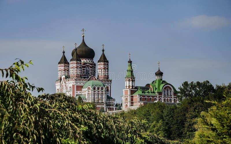 Belle cathédrale orthodoxe image libre de droits