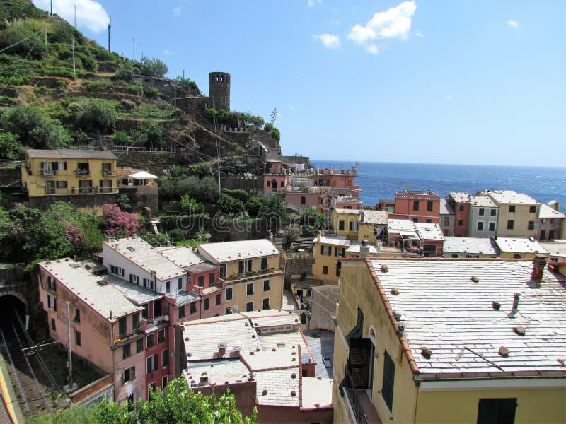 Belle Cinque Terre l'Italie stupéfiante photographie stock