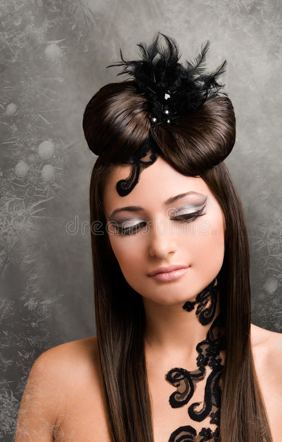 Belle coiffure image stock