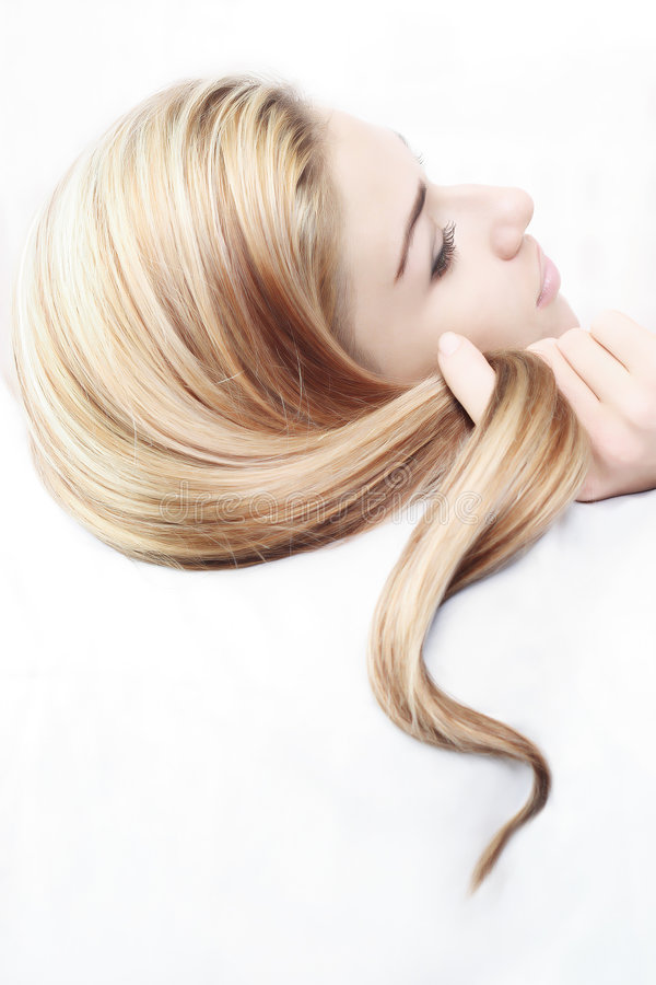 Belle coiffure photo stock