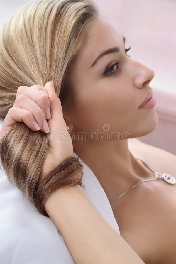 Belle coiffure photographie stock