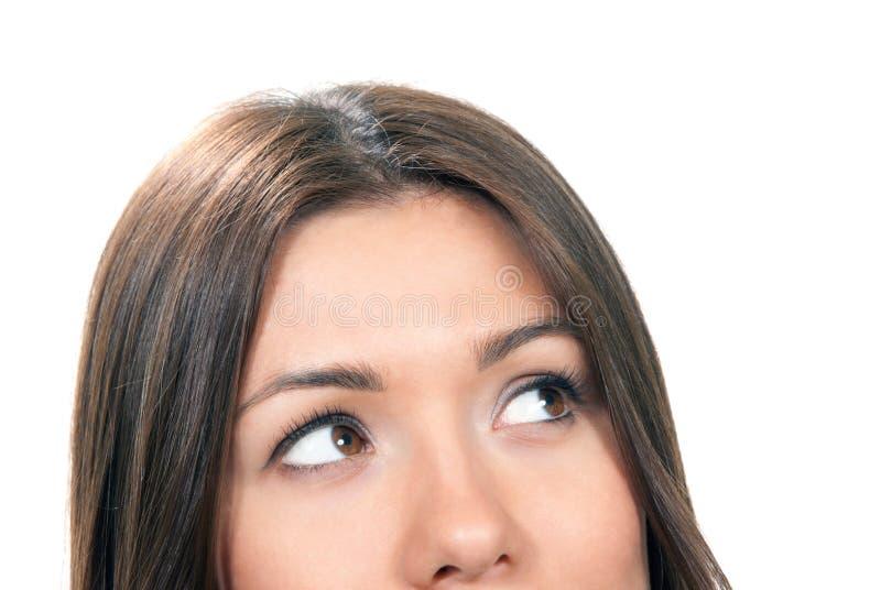 Belle composition de plan rapproché de visage de jeune femme photographie stock
