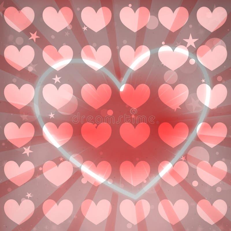 Belle conception colorée de coeur illustration libre de droits