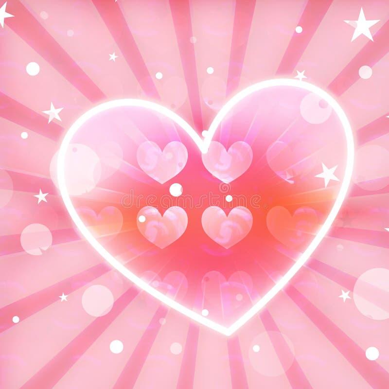 Belle conception colorée de coeur illustration de vecteur