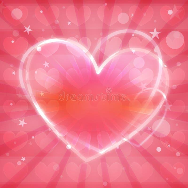 Belle conception colorée de coeur illustration stock