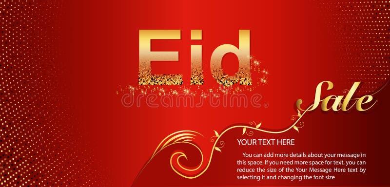Belle conception d'affiche, de bannière ou d'insecte pour Eid Sale festival de célébration musulmane de la communauté illustration libre de droits