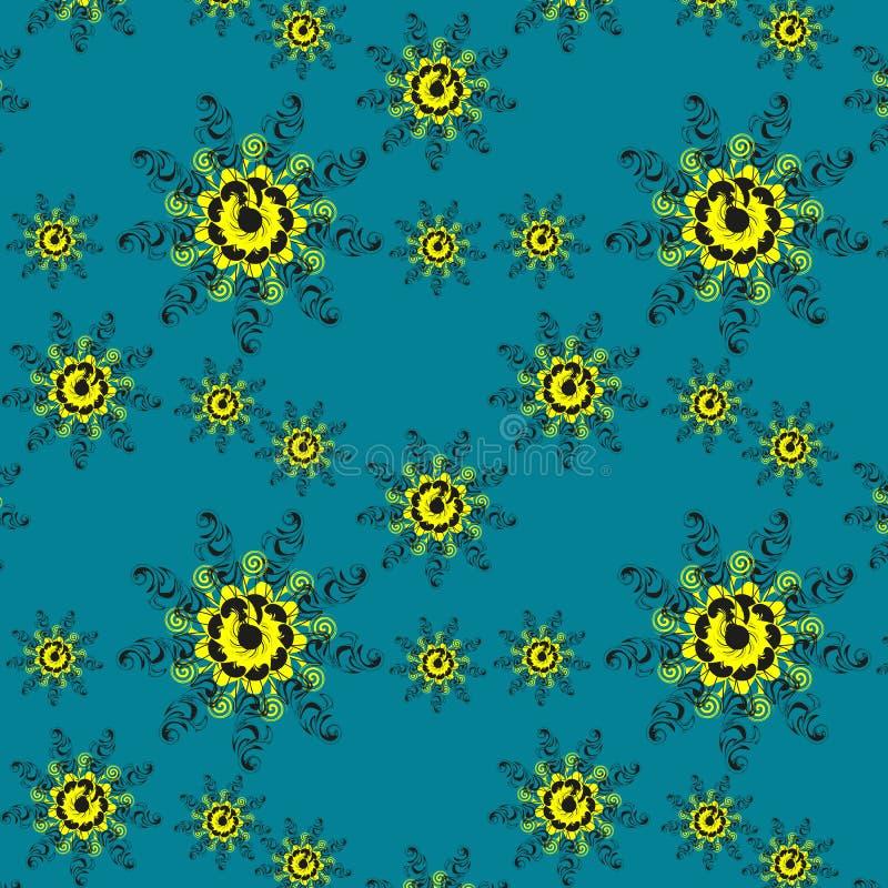 Belle configuration florale sans joint image stock