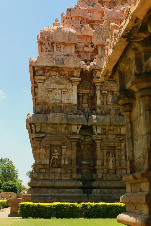 Belle construction architecturale dénommée dravidian dans le temple de Brihadisvara dans Gangaikonda Cholapuram, Inde photo libre de droits